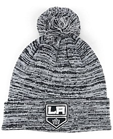 Los Angeles Kings Black White Cuffed Pom Knit Hat