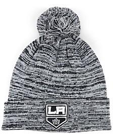 Authentic NHL Headwear Los Angeles Kings Black White Cuffed Pom Knit Hat