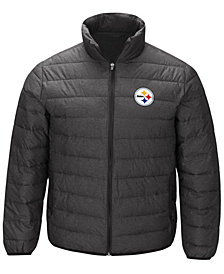 G-III Sports Men's Pittsburgh Steelers Playoff Quilted Polyfill Jacket