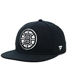 NHL Authentic Headwear Boston Bruins Black DUB Fitted Cap