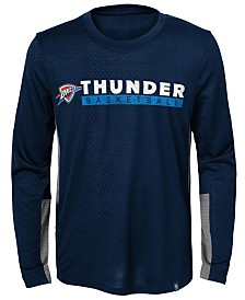 Jordan Oklahoma City Thunder Covert Long Sleeve T-Shirt, Little Boys (4-7)