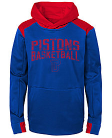 Outerstuff Detroit Pistons Off The Court Hoodie, Big Boys (8-20)