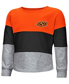 Oklahoma State Cowboys Tricolored Long Sleeve T-Shirt, Toddler Girls (2T-4T)