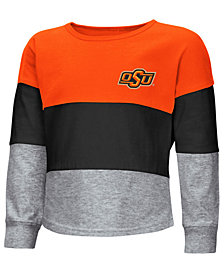 Colosseum Oklahoma State Cowboys Tricolored Long Sleeve T-Shirt, Toddler Girls (2T-4T)