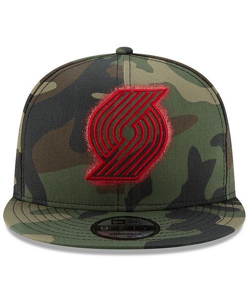super popular 29b5c f8552 ... discount code for new era portland trail blazers overspray 9fifty  snapback cap sports fan shop by