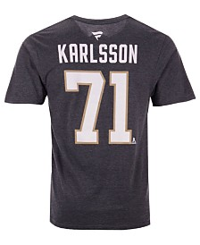Majestic Men's William Karlsson Vegas Golden Knights Authentic Stack Name & Number T-Shirt