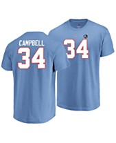 959671a3354 Majestic Men s Earl Campbell Houston Oilers Hall of Fame Eligible Receiver  Triple Peak T-Shirt