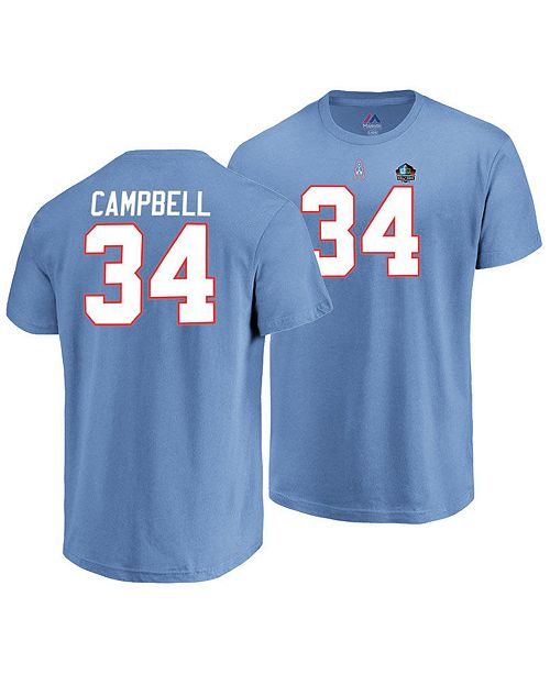 ... VF Licensed Sports Group Majestic Men s Earl Campbell Houston Oilers  Hall of Fame Eligible Receiver Triple ... b64350f32