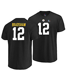 Majestic Men's Terry Bradshaw Pittsburgh Steelers Hall of Fame Eligible Receiver Triple Peak T-Shirt