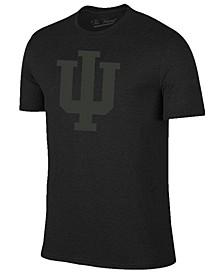 Men's Indiana Hoosiers Black Out Dual Blend T-Shirt