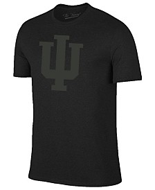 Champion Men's Indiana Hoosiers Black Out Dual Blend T-Shirt