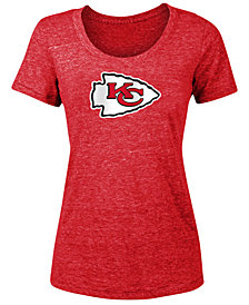5th & Ocean Women's Kansas City Chiefs Tri-Blend Logo T-Shirt