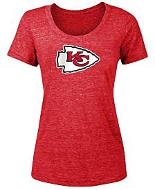 5th & Ocean Women's Kansas City Chiefs Tri-Blend Logo T-Shirt