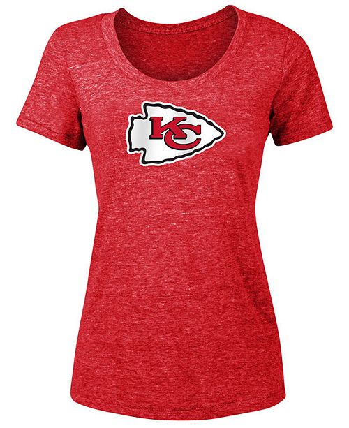 5th Amp Ocean Women S Kansas City Chiefs Tri Blend Logo T