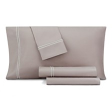 CLOSEOUT! AQ Textiles Double Merrow Embellished 4-Pc Queen Sheet Set, 700 Thread Count Cotton Blend
