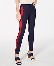 MICHAEL Michael Kors Striped-Leg Pull-On Pants, In Regular & Petite Sizes