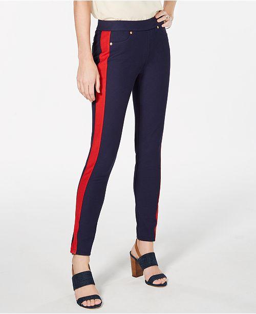 Michael Kors Striped-Leg Pull-On Pants, In Regular & Petite Sizes