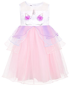 Blueberi Boulevard Toddler Girls Unicorn Dress