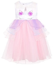 Blueberi Boulevard Toddler & Little Girls Unicorn Dress