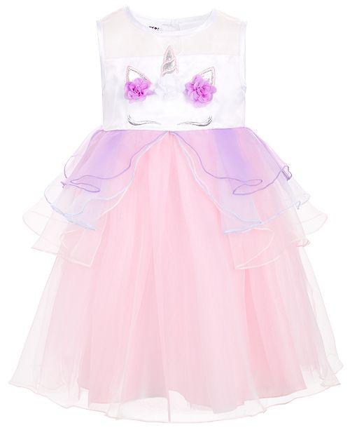 Blueberi Boulevard Toddler & Little Girls Unicorn Dress