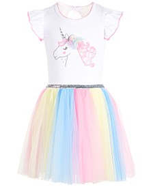 Toddler Girls Rainbow Unicorn Dress
