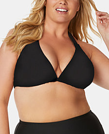 Raisins Curve Trendy Plus Size Juniors' Tie-Back Bikini Top