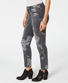 Style & Co Printed Curvy Skinny Jeans, Created for Macy's