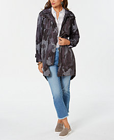 Style & Co Camo-Print Hooded Jacket, Created for Macy's