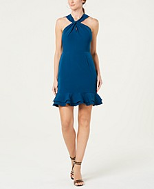 Open Lace-Back Sheath Dress
