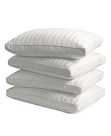 350 Thread Count Cotton Damask Optima-Loft® Down Alternative 4-Pack of Jumbo Pillows