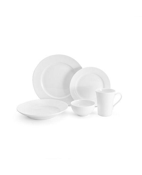 Lifetime Mikasa Lucerne White 40 Piece Dinnerware Set, Service for 8