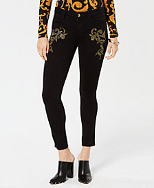 GUESS Bianca Embroidered Sexy Curve Jeans