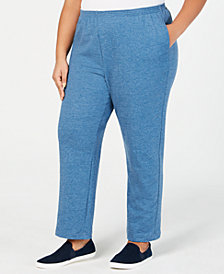 Alfred Dunner Plus Size At Ease Denim-Look Pull-On Pants