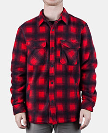 Rip Curl Men's Porter Anti-Series Regular-Fit Fleece-Lined Plaid Flannel Shirt