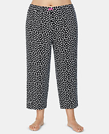 Ellen Tracy Plus Size Printed Capri Pajama Pants