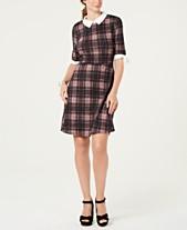 67c68bafac Monteau Petite Collared Plaid Dress