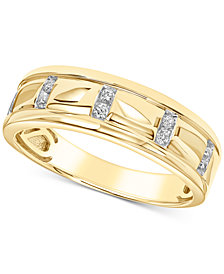 Men's Diamond Band (1/10 ct. t.w.) in 10k Gold