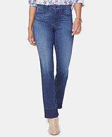 NYDJ Marilyn Release-Hem Straight-Leg Jeans