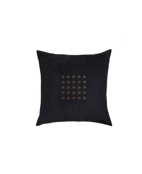 Edie@Home Microsuede Grommeted Pillow