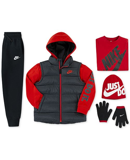 1a9602920c8 Nike Little Boys Quilted 2-in-1 Jacket