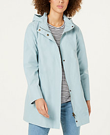 Eileen Fisher Organic Cotton Nylon Long A-Line Jacket