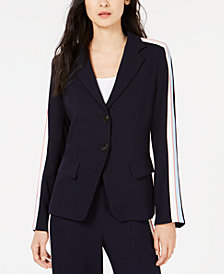 Marella Marta Striped-Sleeve Blazer