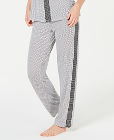 Alfani Ultra Soft Side-Stripe Pajama Pants, Created for Macy's