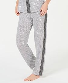 Alfani Ultra Soft Side-Stripe Pajama Pants, Created for Macy's