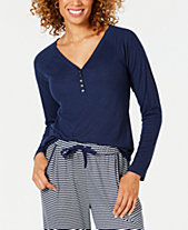22ff673ba38a86 Charter Club Ribbed-Knit Henley Pajama Top, Created for Macy's