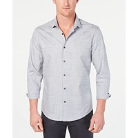 Alfani Mens Layton Fine Line Shirt