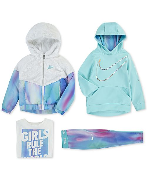 cheap crazy price save up to 80% Nike Little Girls Hooded Sherpa Jacket, Logo-Print Hoodie ...