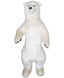 "Ditz Designs 48"" Standing Polar Bear Stuffed Plush Animal"
