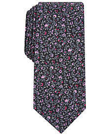 Bar III Men's Arlington Skinny Floral Tie, Created for Macy's