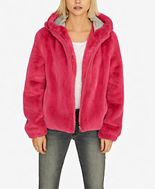 Sanctuary Hooded Faux-Fur Jacket
